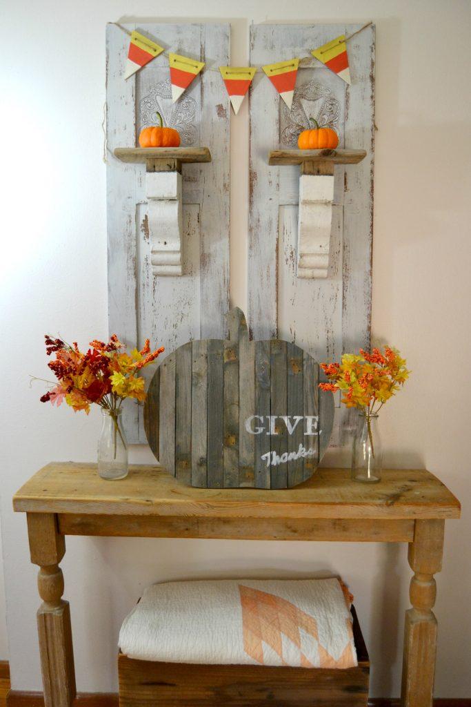 "Repurposed ""Give Thanks"" Pumpkin MyCreativeDays.com"