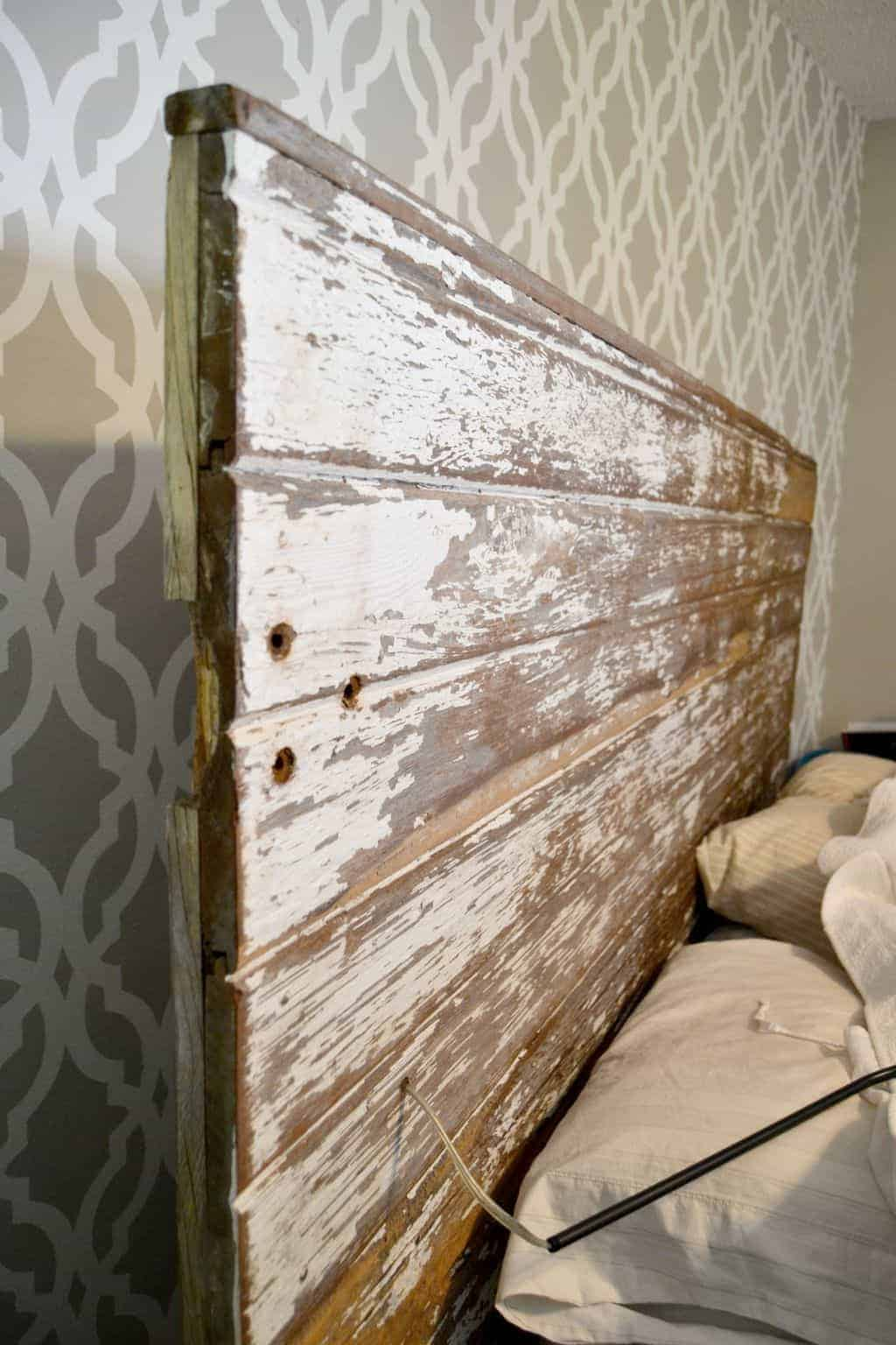 Pin this · If you would like to free up some space on your night stands click over & Repurposed Lamps Become DIY Plug In Wall Sconce For Headboard