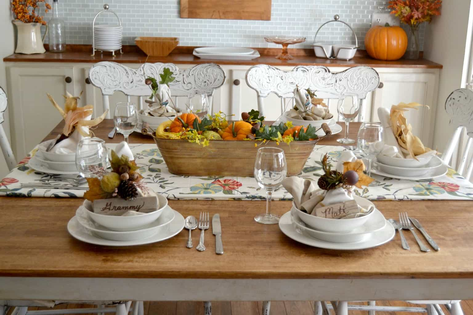 Nature Inspired Thanksgiving Tablescape My Creative Days