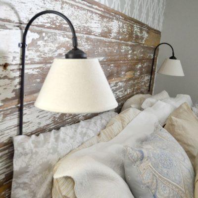 DIY Plug In Wall Sconce For Headboard