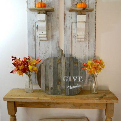 "Repurposed ""Give Thanks"" Pumpkin"