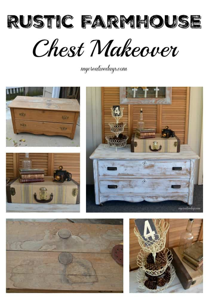 Tool Chest Dresser Makeover: Rustic Farmhouse Chest Makeover