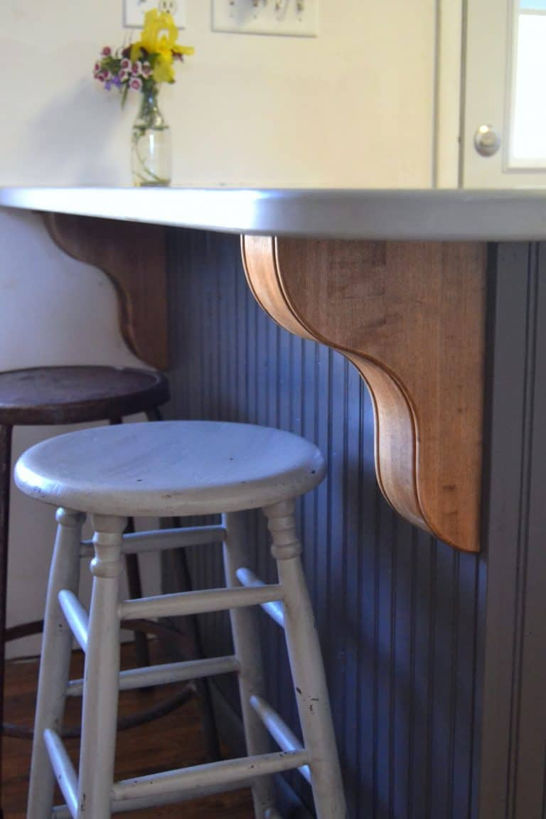 Heavy Wood Corbels To Add Interest To A Kitchen Island