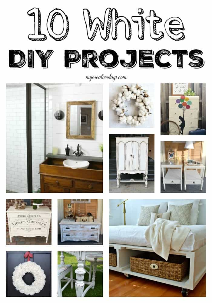 Do you love white decor? Do you want to bring more of it into your home? Check out these 10 White DIY Projects for inspiration.