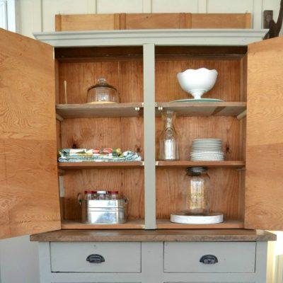 DIY Cabinet Turned Farmhouse Hutch