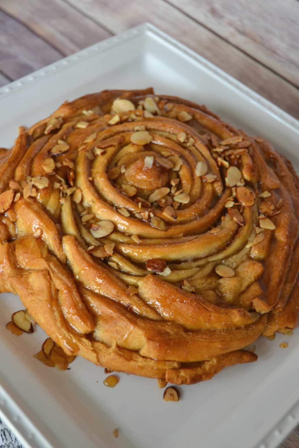 Easy Almond Sticky Bun Pie My Creative Days