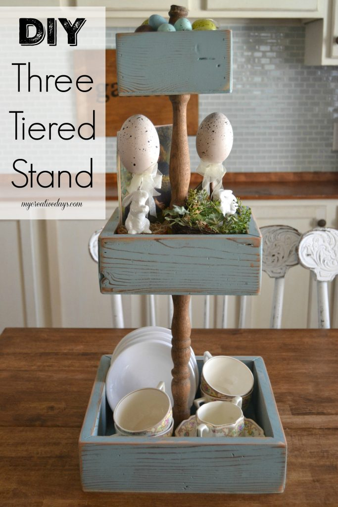 DIY Three Tiered Stand