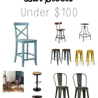 Farmhouse Bar Stools Under $100
