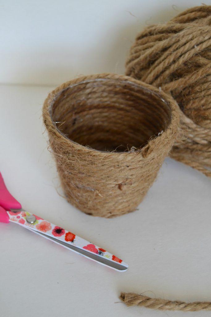 DIY Twine Easter Baskets