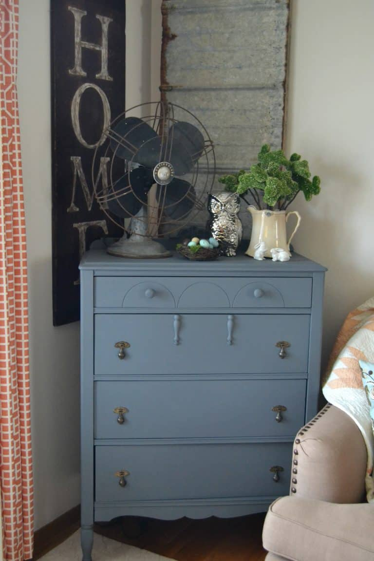 DIY Painted Gray Dresser Makeover That Is Easy To Do