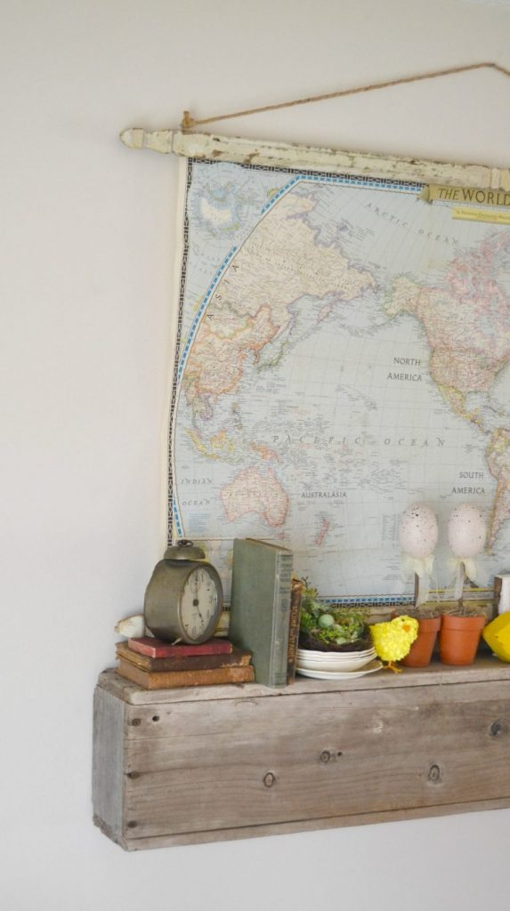 If you like the look of maps hanging on the wall, click over to see how easy it is to make your own hanging architectural wall map.