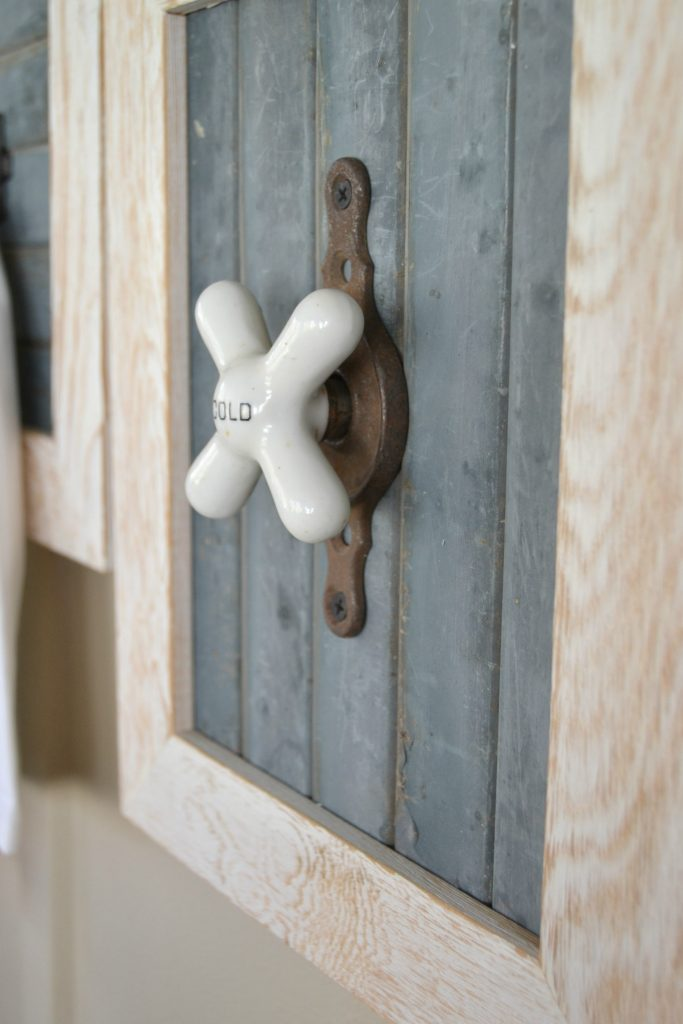 DIY Rustic Bathroom Hooks