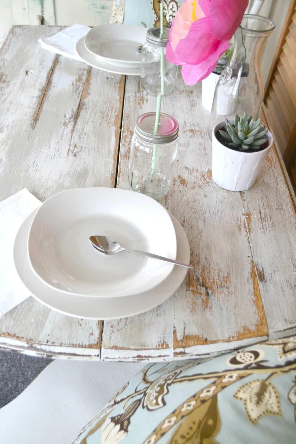 DIY Rustic Farmhouse Table