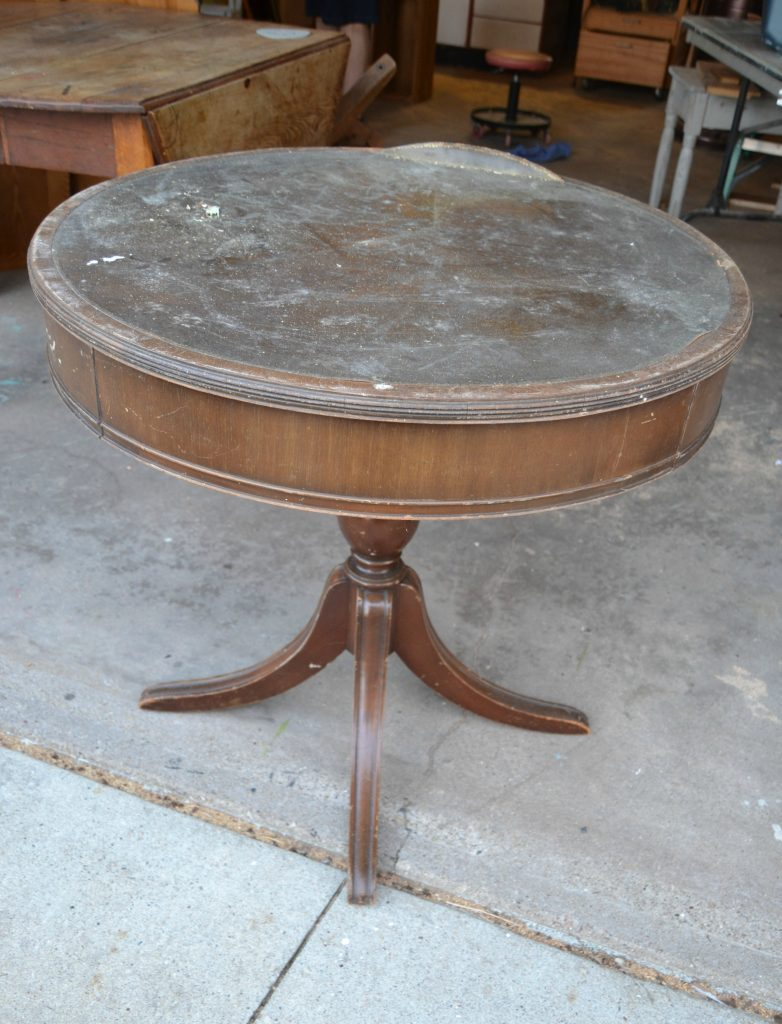 If you are on the market for a round end table in your space, save your money and DIY a painted round end table. Click over and see how easy it is to do!