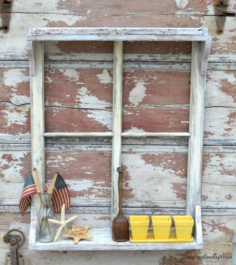 A window shelf can be used for so many things and they are very simple to make. Click over to find the tutorial on how you can create your own window shelf to hang in your home.