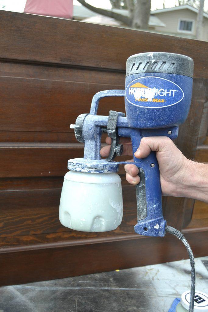 Spraying Furniture Pieces