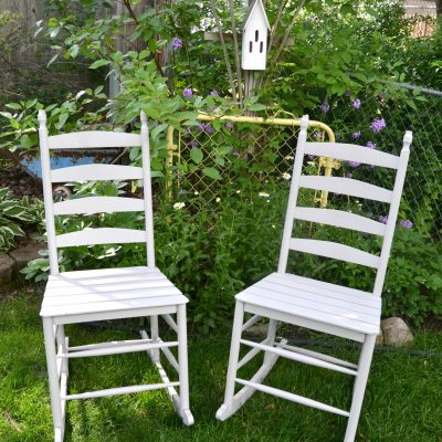 The Easy Way To Paint Homemade Rocking Chairs