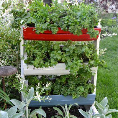 DIY Red, White & Blue Rectangular Planter