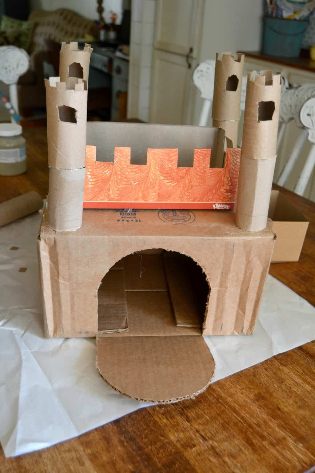 Recycled Castle Activity My Creative Days