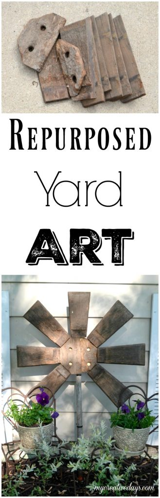If you like to add a little art to your garden or yard, don't spend a lot of money to do it. Click over to see how easy it was to make this repurposed yard art from a broken wood barrel.