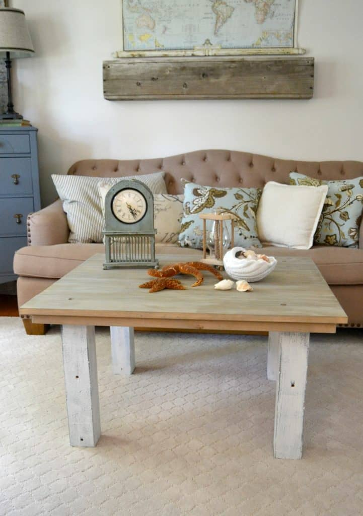 How To Make A Faux Driftwood Coffee Table In A Few Easy Steps