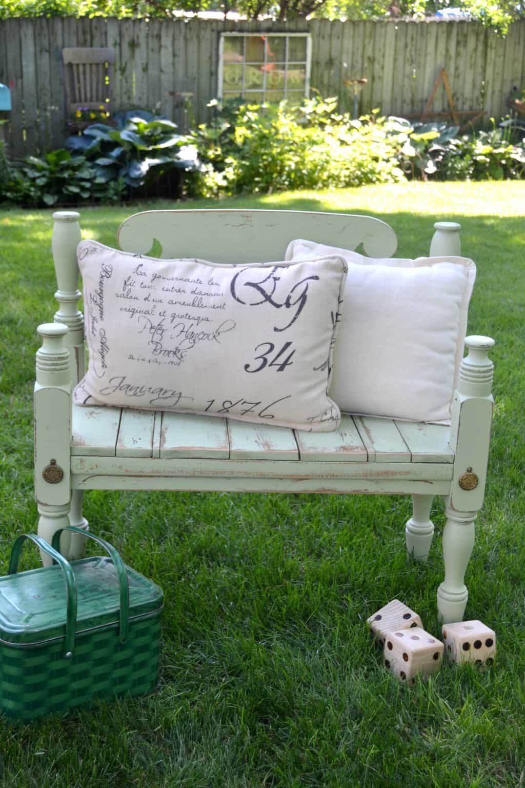 Diy Entryway Bench Made From A Repurposed Headboard