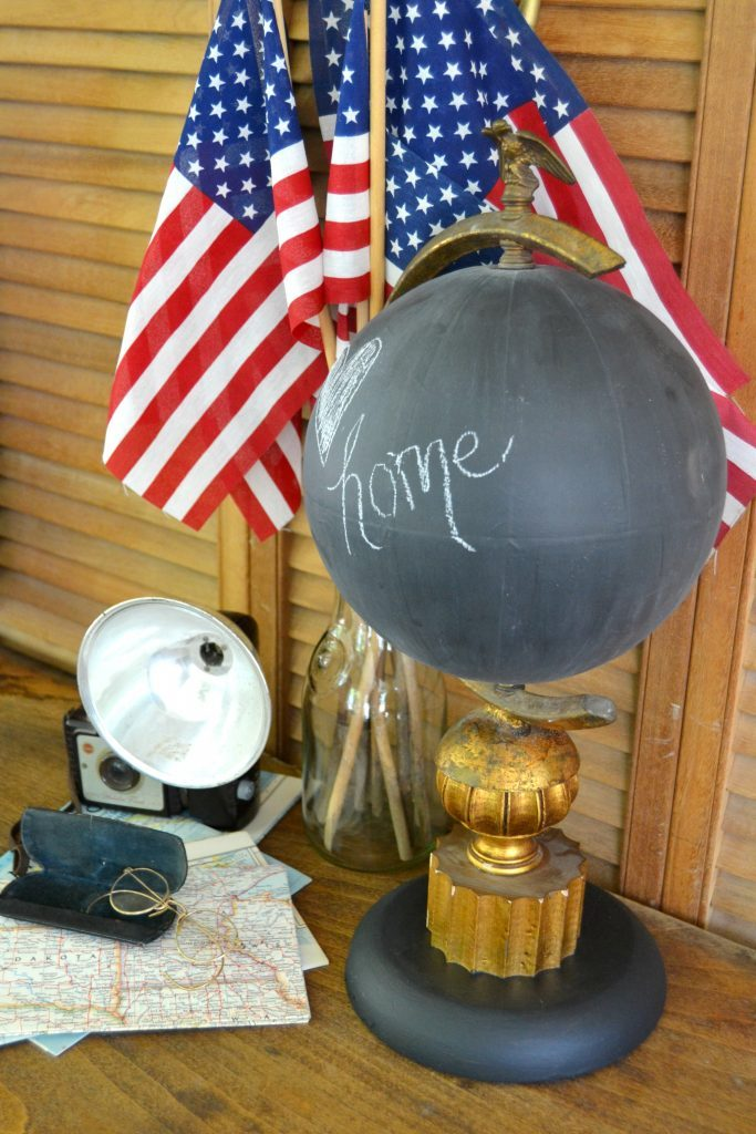 If you are looking for a beautiful desktop globe for your office or home, click over to see how easy it is to DIY this chalkboard desktop globe in a few short steps.