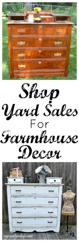 Shop Yard Sales For Farmhouse Decor