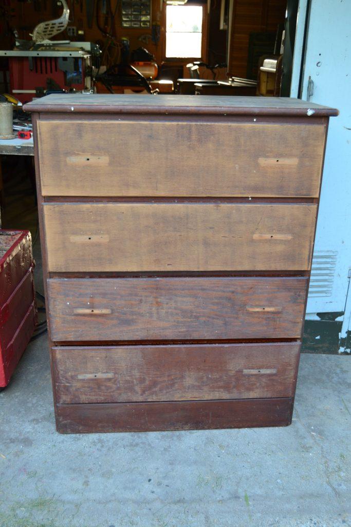 Rustic Numbered Dresser Makeover