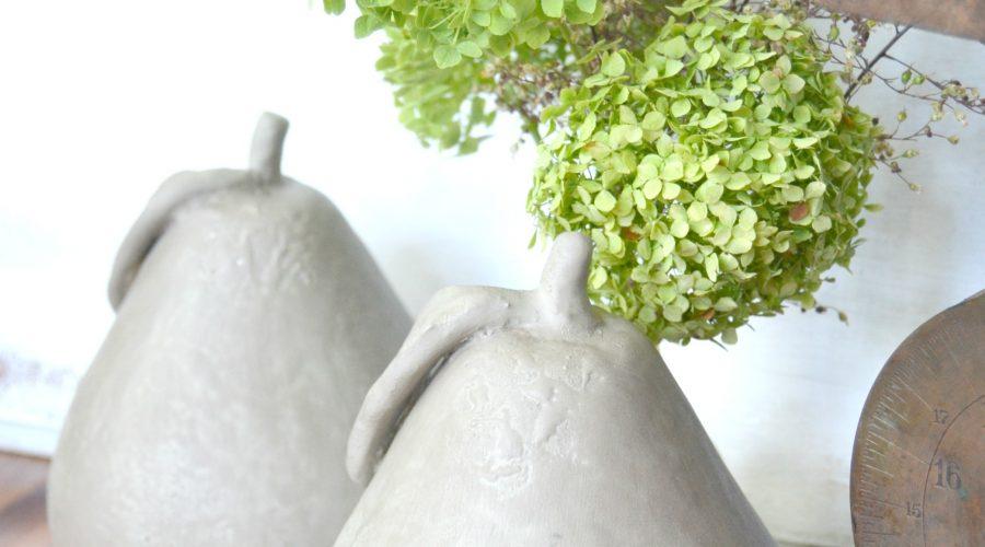 DIY Fall Decor: Faux Concrete Pears