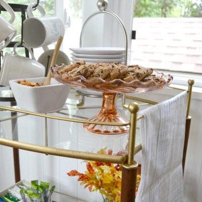 DIY Coffee Shop Bar Cart {Glamorous Makeover}