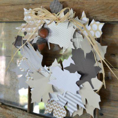 Easy Fall Decor: DIY Paper Leaf Wreath