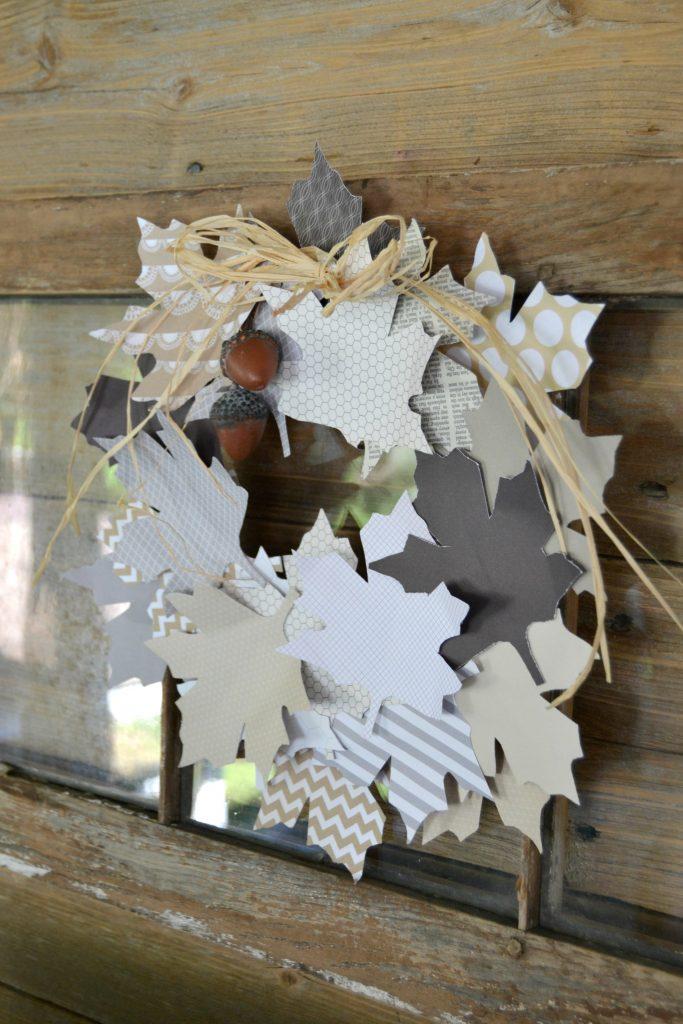 Simple DIY Paper Leaf Wreath