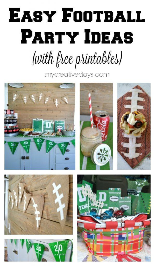 Easy Football Party Ideas