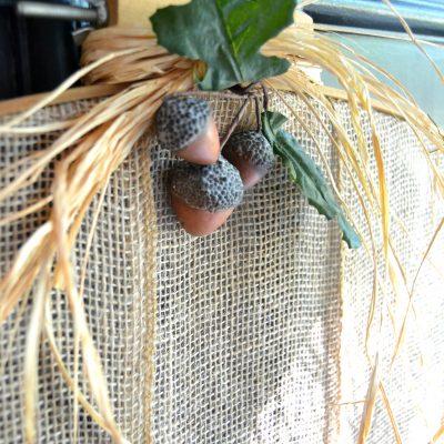 DIY Fall Wreath: Burlap Pumpkin