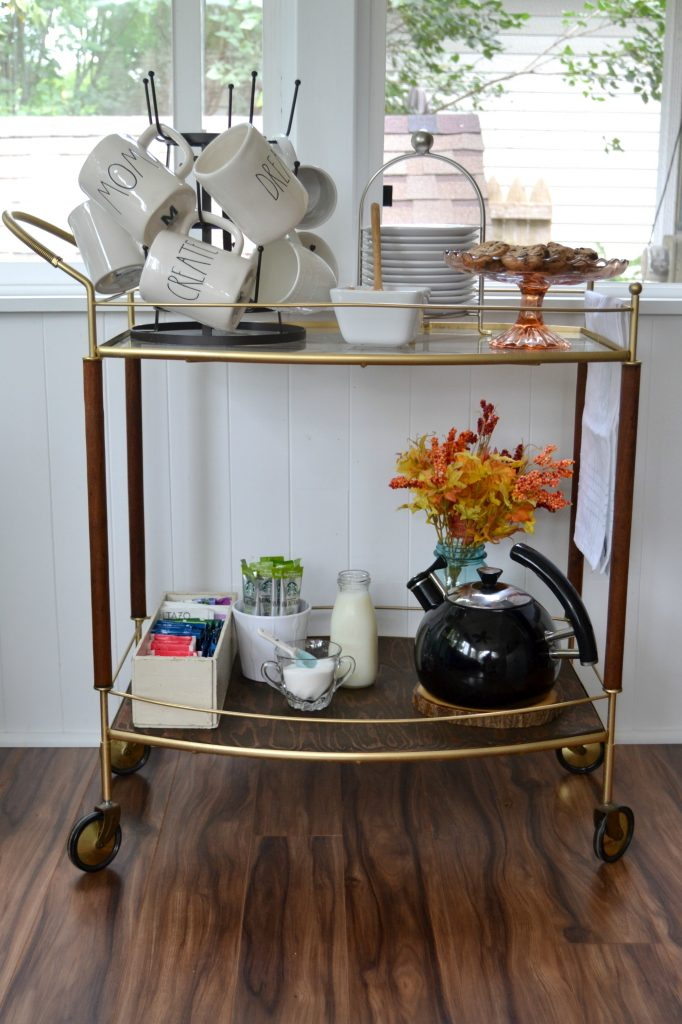 DIY Tea and Coffee Shop Bar Cart