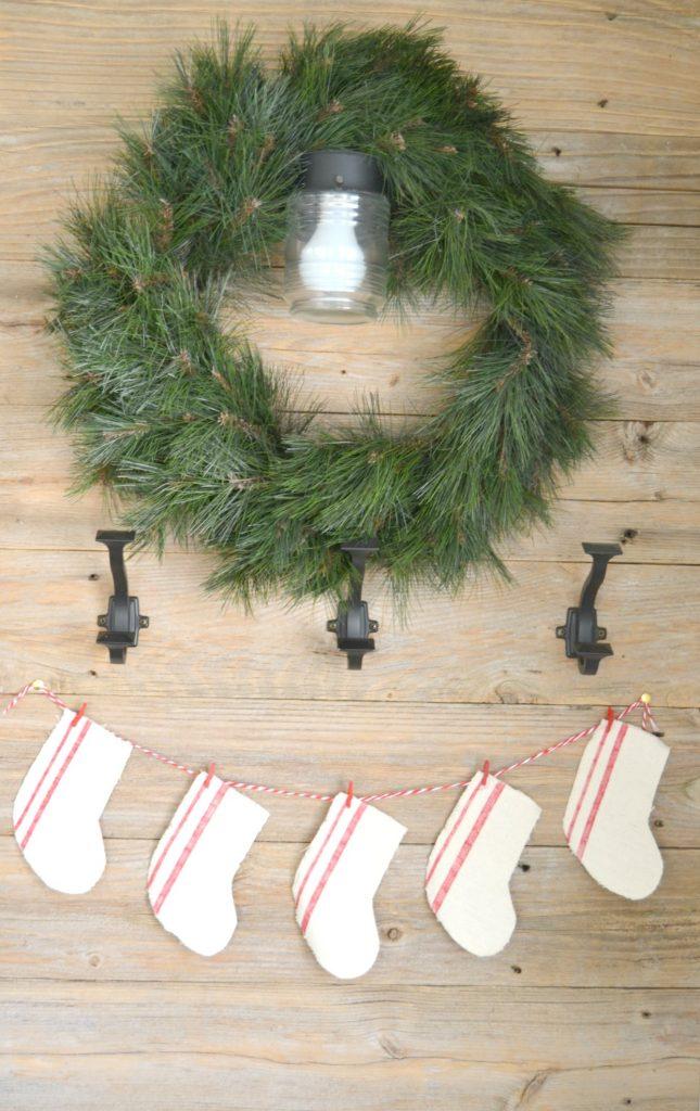 DIY Farmhouse Christmas Decor Made From A Dropcloth
