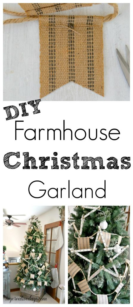 DIY Farmhouse Christmas Garland