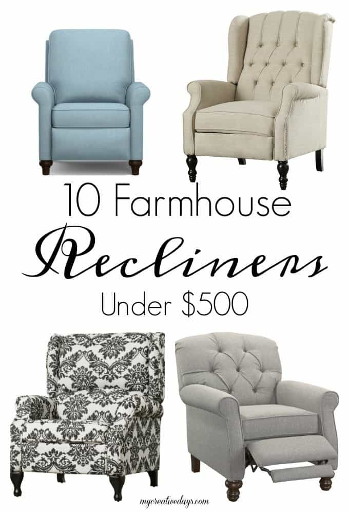 10 Farmhouse Recliners Under $500