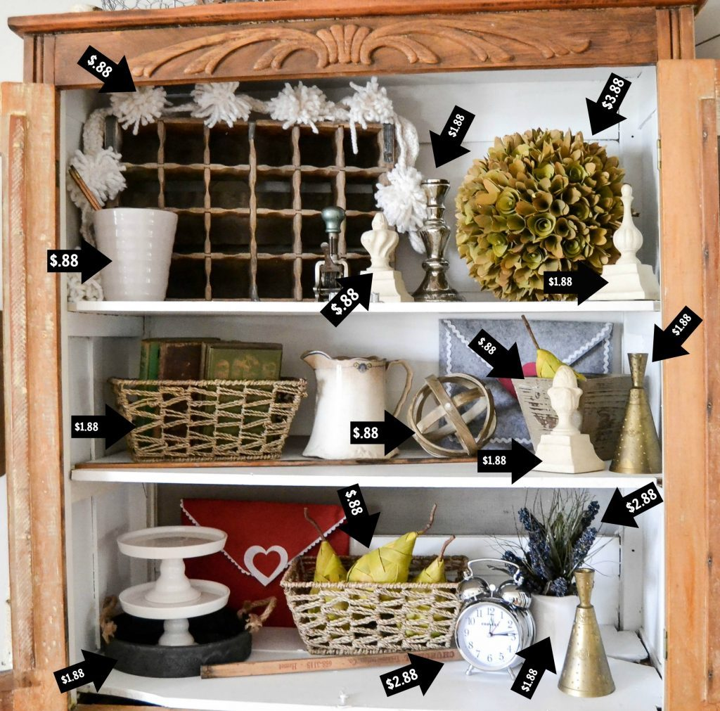 If you are looking for simple ways to decorate display shelves, click over and I will teach you how to do it without spending a lot of money or time.