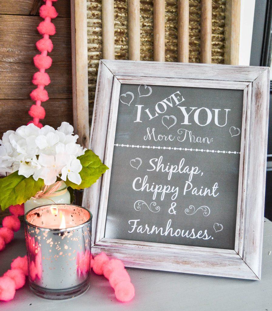 Free Farmhouse Valentine Printables