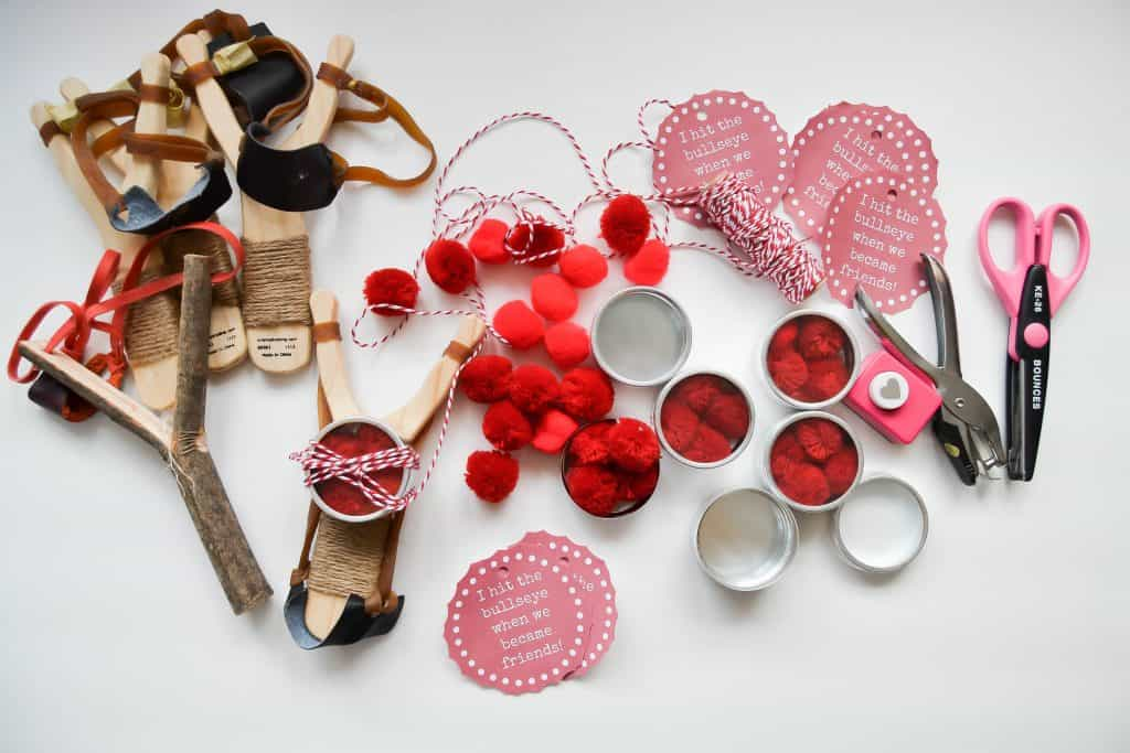 Valentine Crafts For Kids: Sling Shot Valentine (Free Printable)