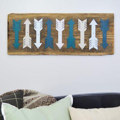 Repurposed Arrow Art {DIY in 30}