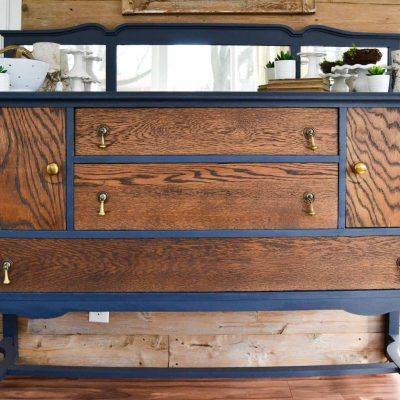 DIY Buffet Makeover: Classic Makeover In Navy