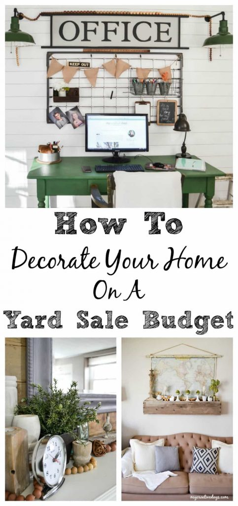 how to decorate your home on a yard sale budget my
