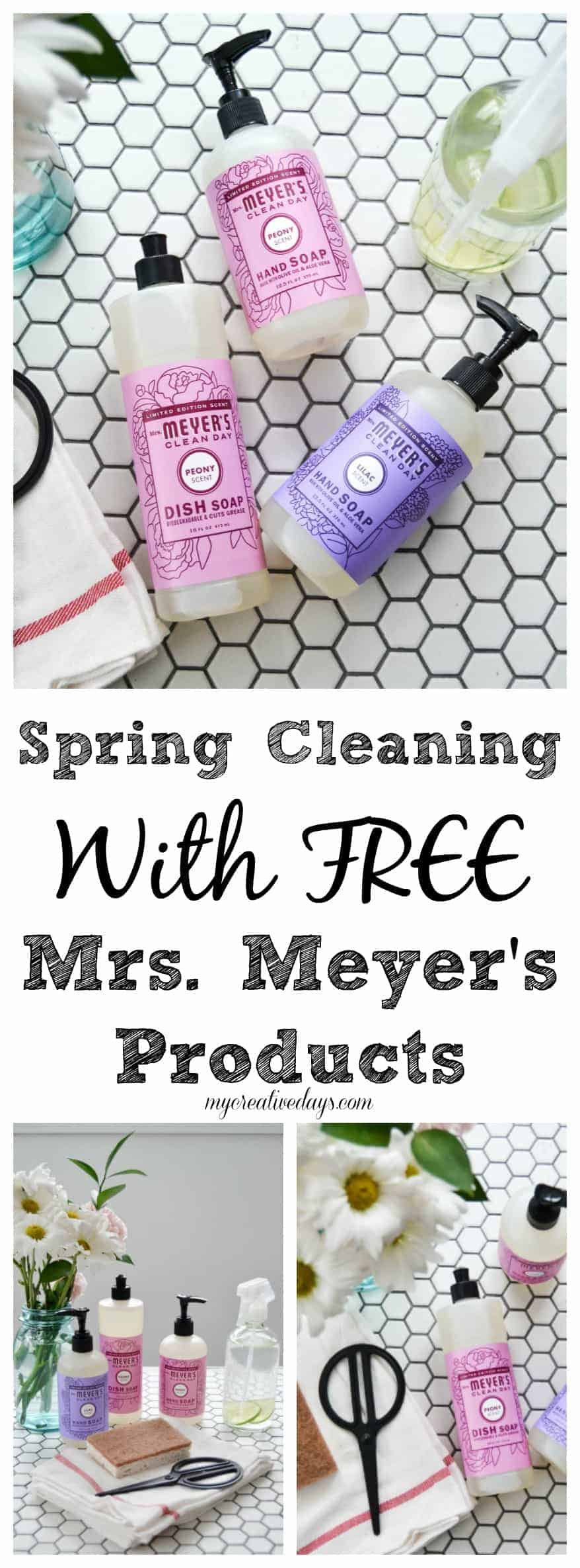 pin this spring cleaning get started on your spring cleaning with free mrs meyeru0027s products