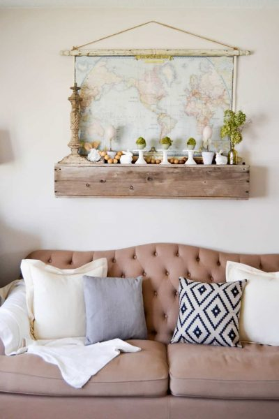 Spring Mantel - Looking for easy ways to add spring decor to your home? This easy spring mantel from My Creative Days will get you started.
