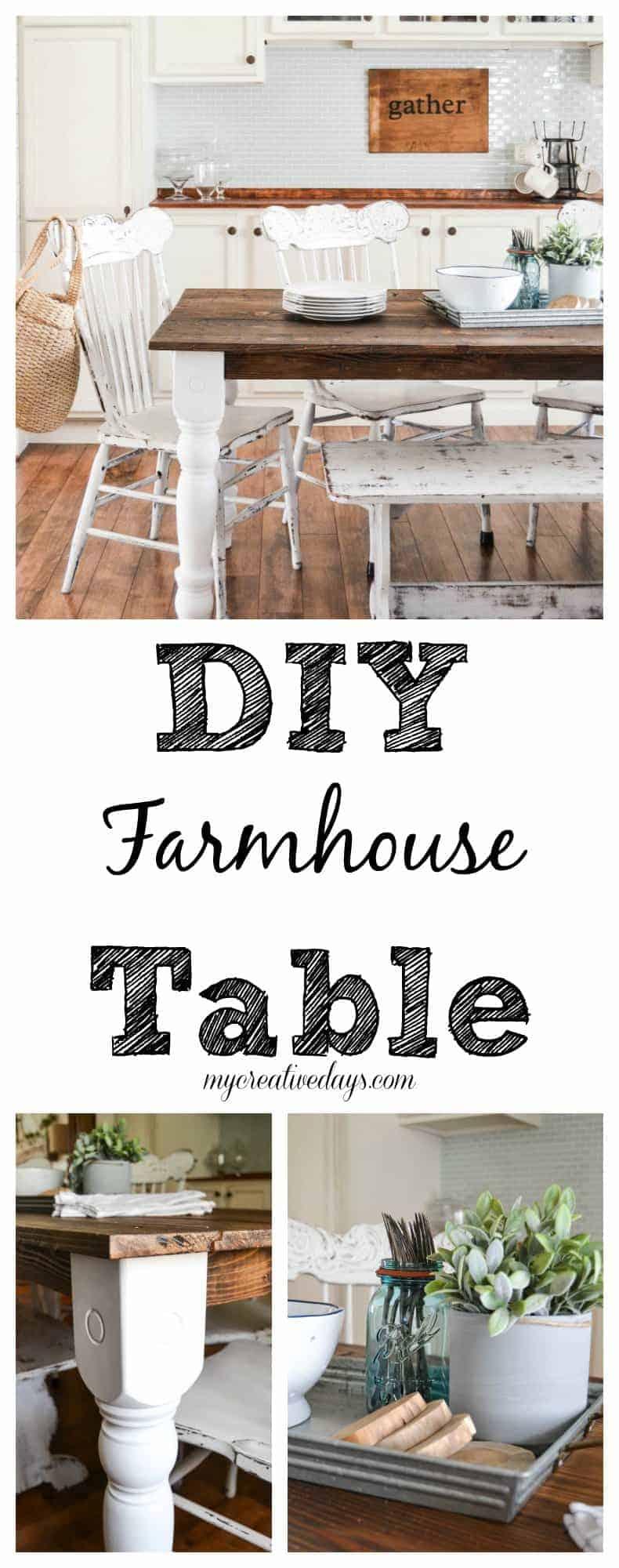 Easy diy farmhouse table my creative days for Make your own farm table