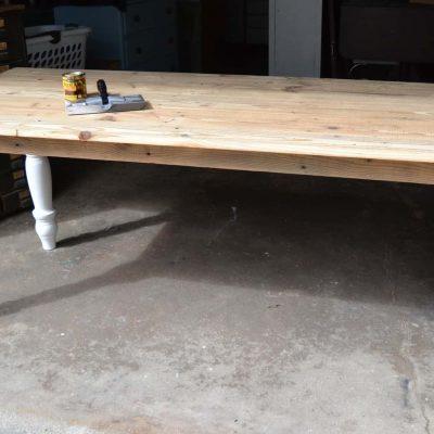 DIY Farmhouse Table Full Of Character & Charm