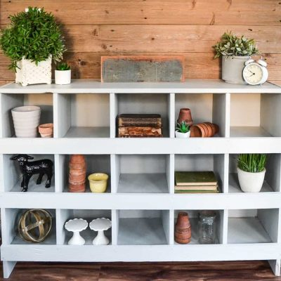 DIY Nesting Boxes {Made From A Bookshelf!!}